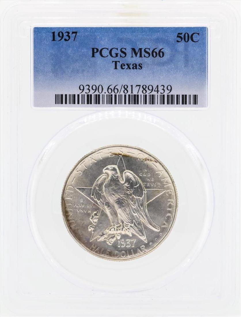 1937 Texas Commemorative Half Dollar Coin PCGS MS66