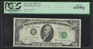 1950C $10 Federal Reserve Note PCGS Gem New 65PPQ