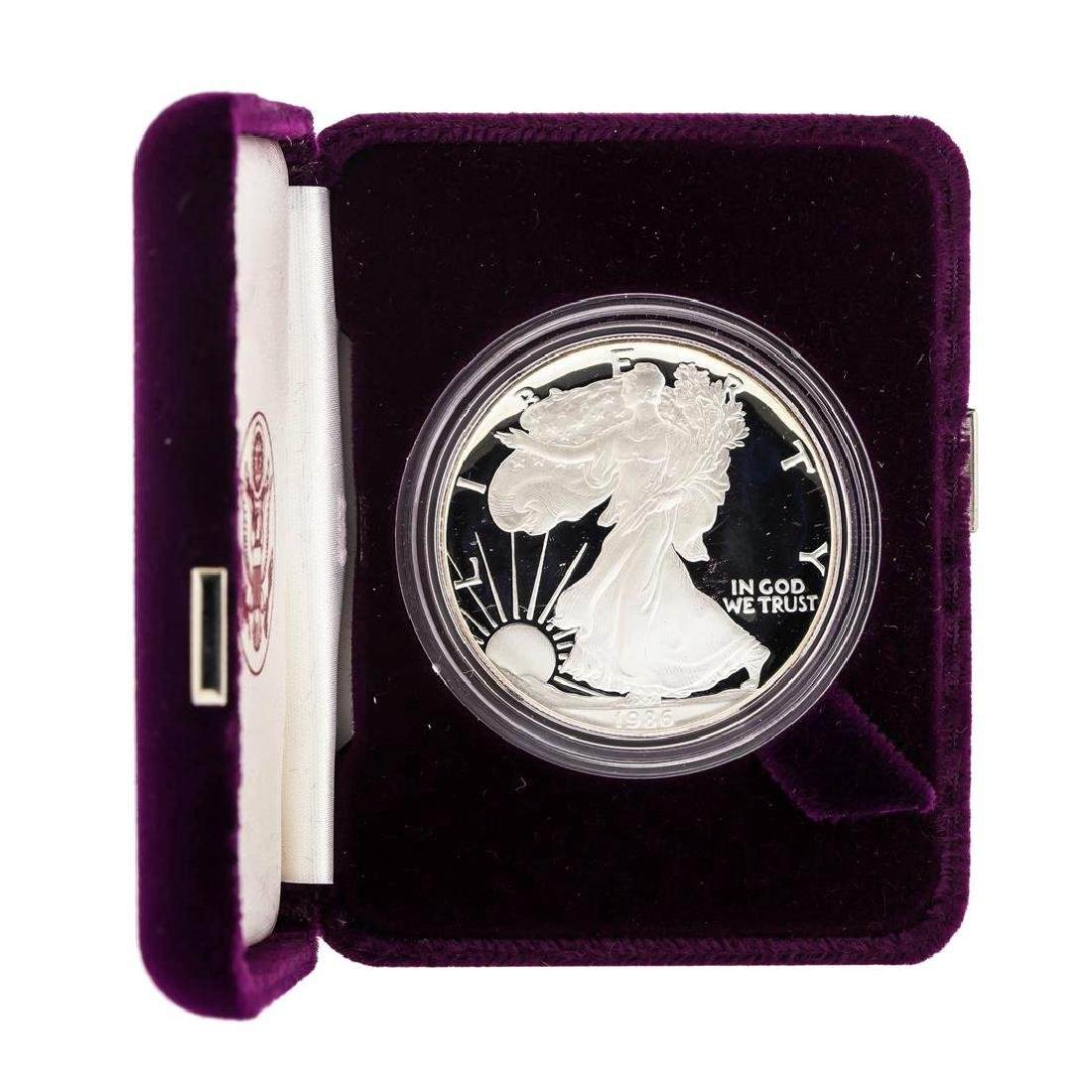 1986 1oz American Silver Eagle Proof Coin with Box