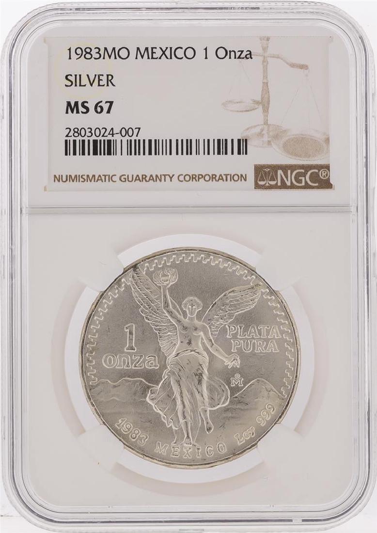 1983MO Mexico 1 Onza Libertad Silver Coin NGC Graded