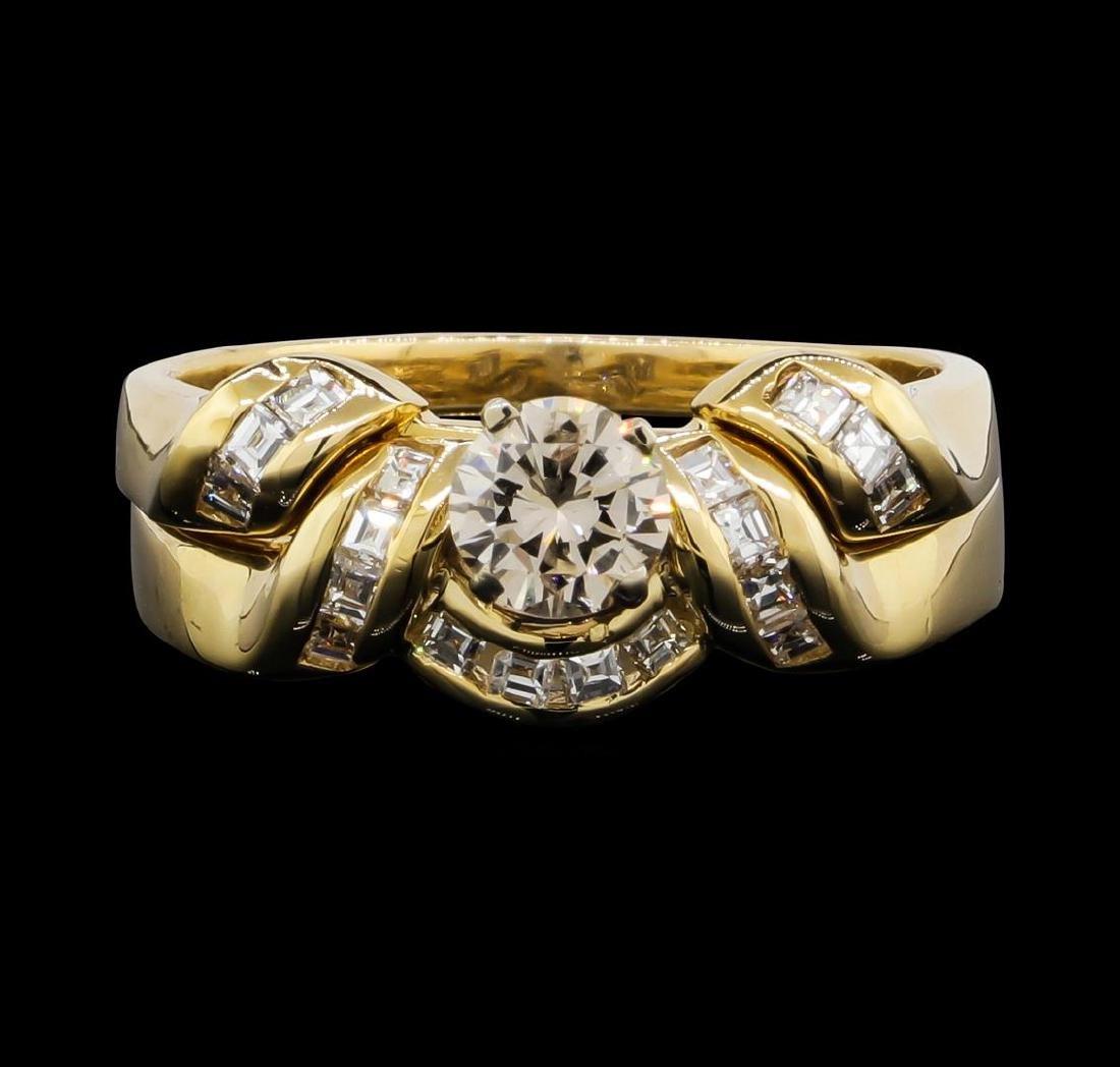 14KT Yellow Gold 0.75ctw Diamond Wedding Ring Set