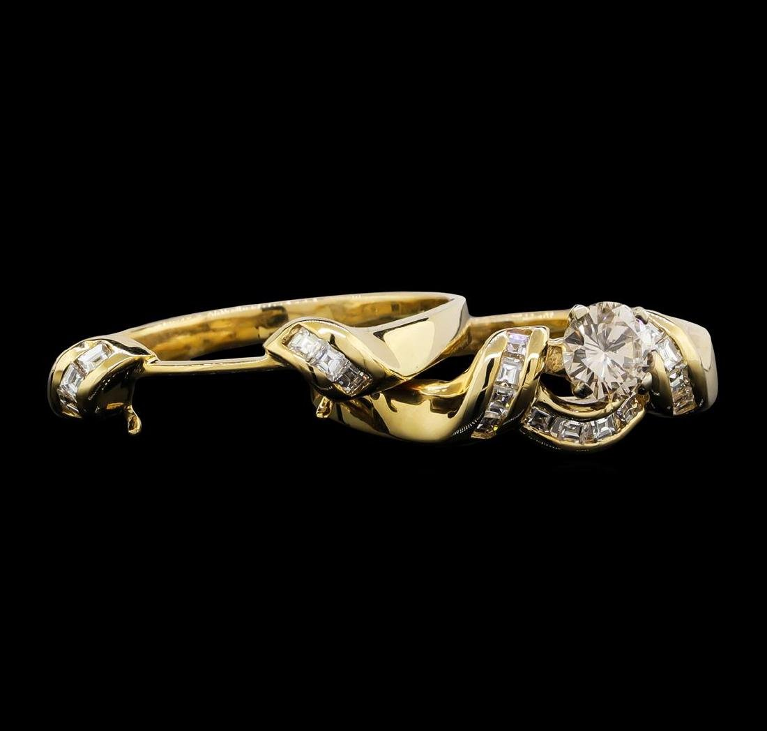 14KT Yellow Gold 0.75ctw Diamond Wedding Ring Set - 3