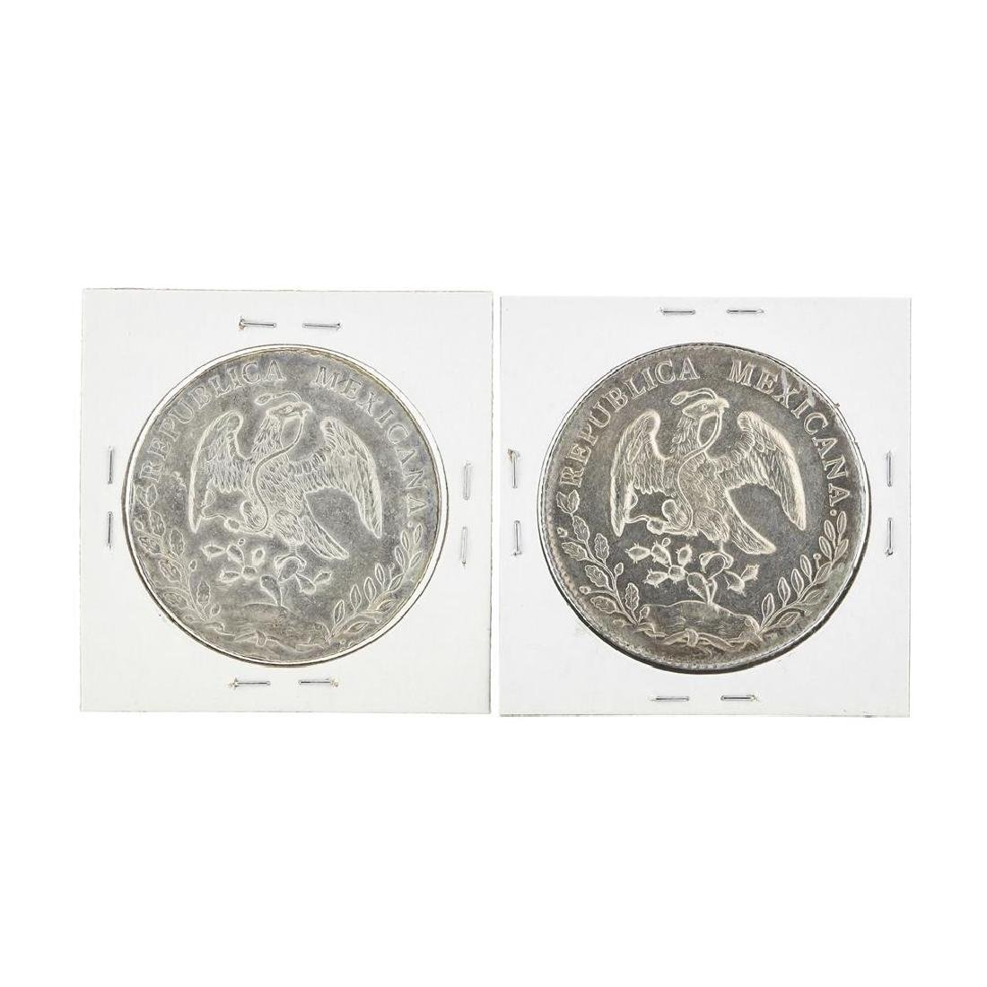 Set of (2) Mexico 8 Reales Silver Coins - 2