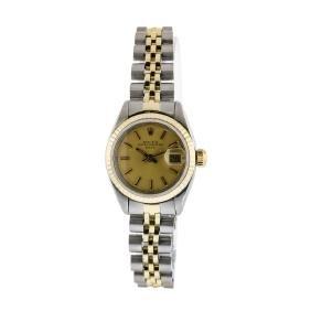 Rolex Ladies Two Tone Datejust Wristwatch