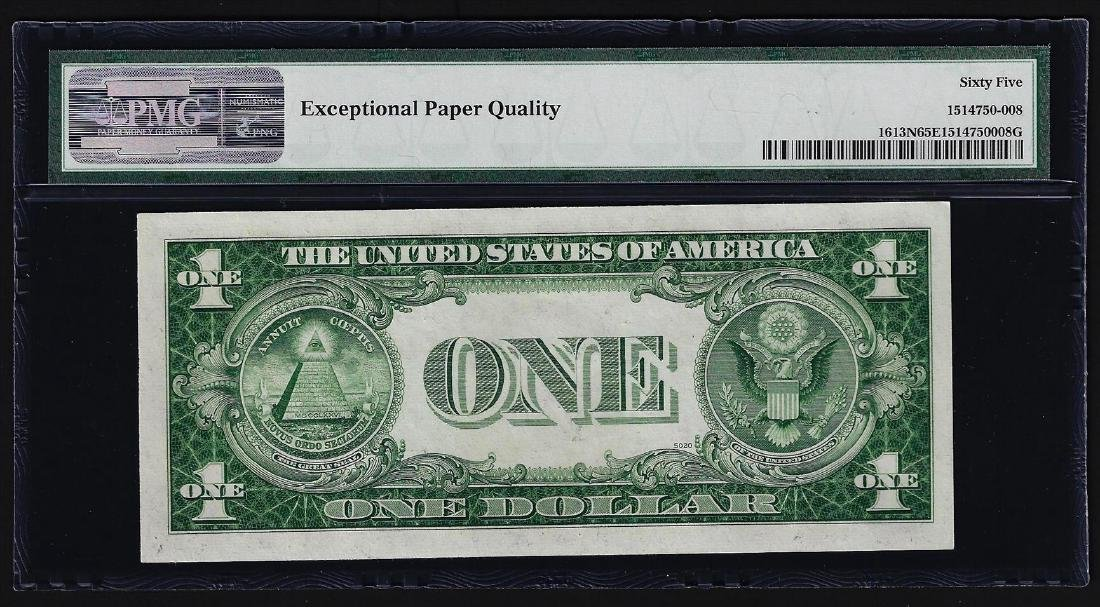 1935D $1 Silver Certificate Note Narrow PMG Gem - 2
