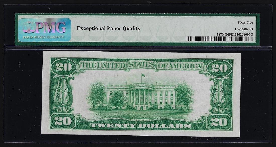 1929 $20 Federal Reserve Bank Note Chicago PMG Gem - 2