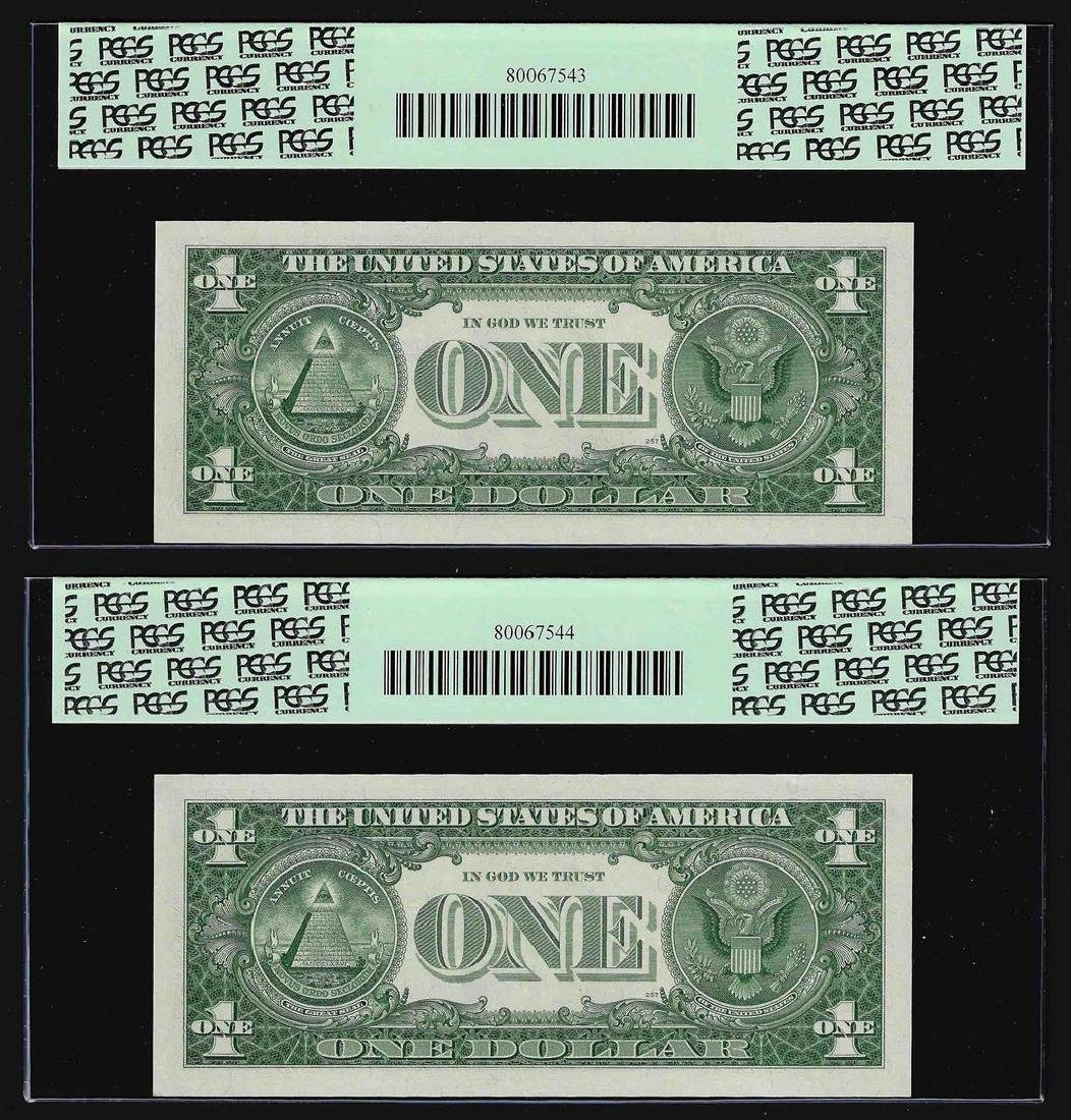 (2) Sequential 1957 $1 Silver Certificate STAR Notes - 2