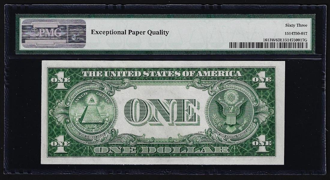 1935D $1 Silver Certificate Note Wide PMG Choice - 2