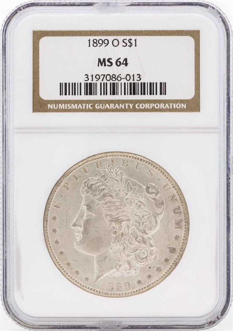 1899-O $1 Morgan Silver Dollar Coin NGC MS64