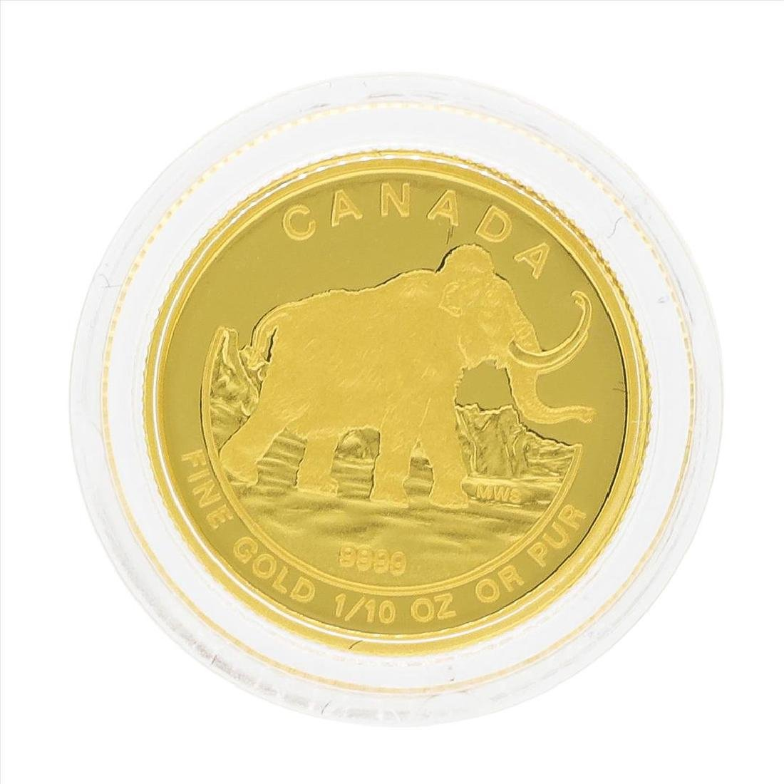 2014 $5 Canada 1/10 oz Woolly Mammoth Gold Coin - 2