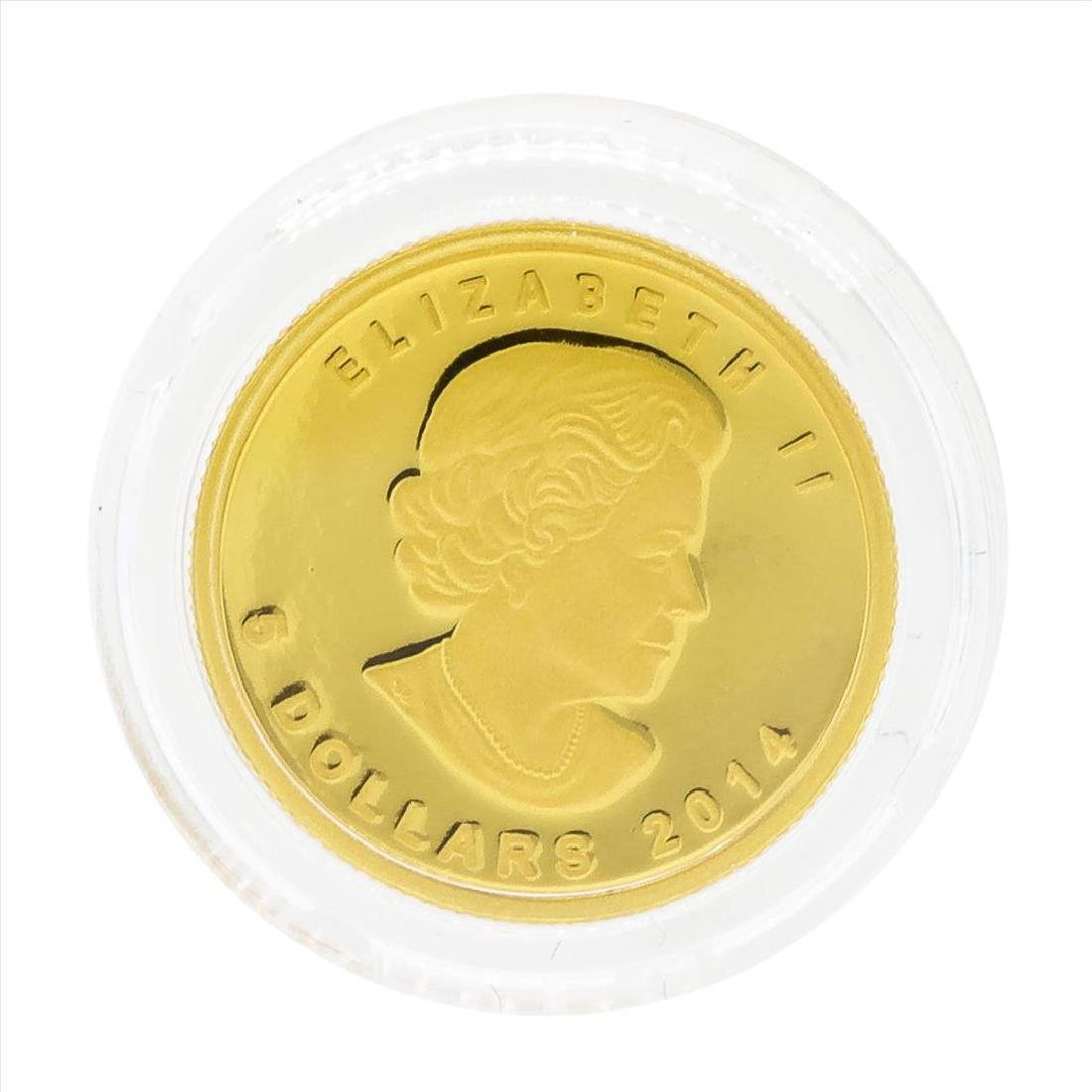 2014 $5 Canada 1/10 oz Woolly Mammoth Gold Coin - 3