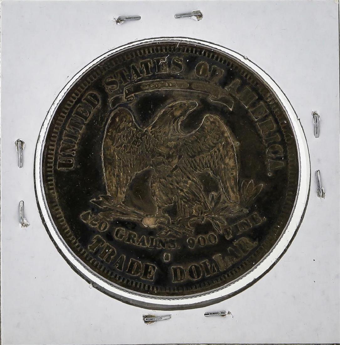 1877-S $1 Trade Dollar Silver Coin - 2