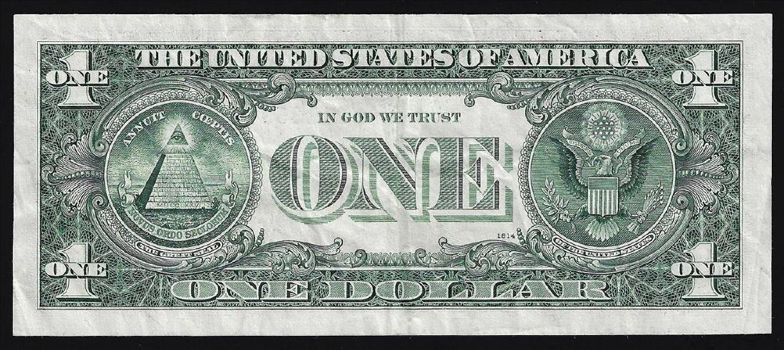 1974 $1 Federal Reserve Note ERROR Major Shift - 2