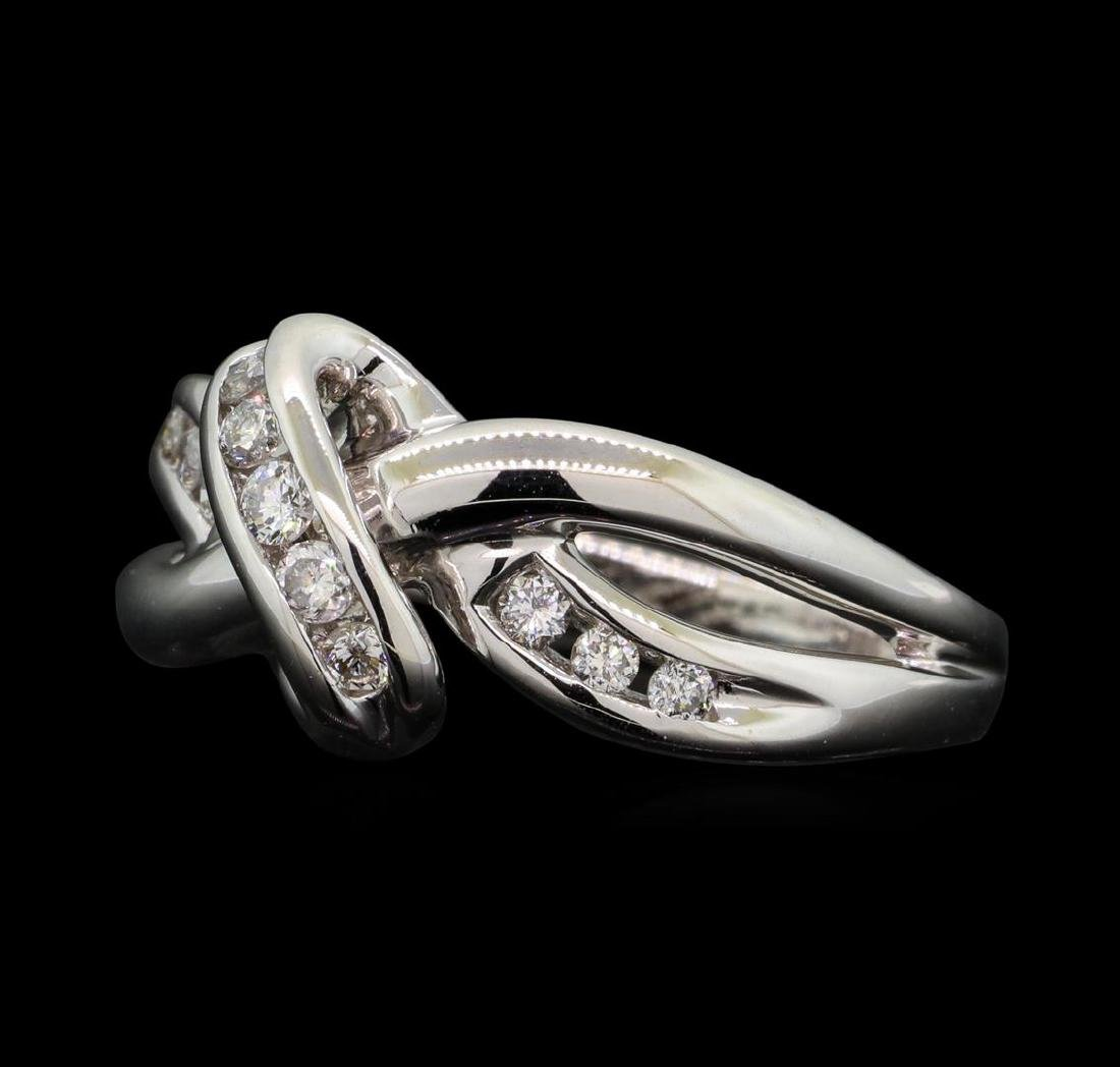 14KT White Gold 0.30ctw Diamond Ring - 2