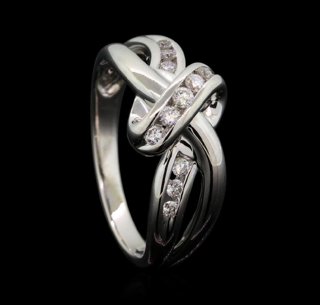 14KT White Gold 0.30ctw Diamond Ring - 4