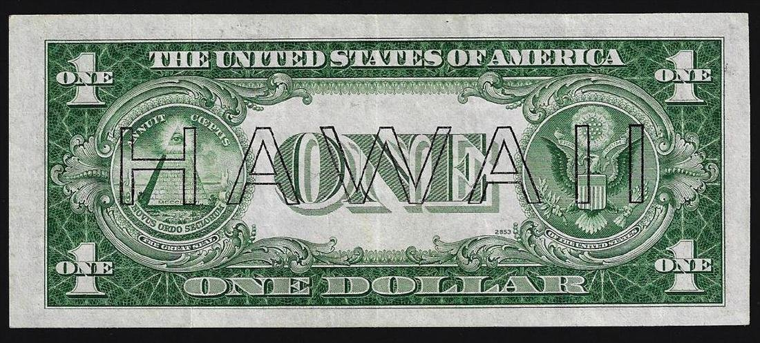 1935A $1 Silver Certificate WWII Emergency Hawaii Note - 2