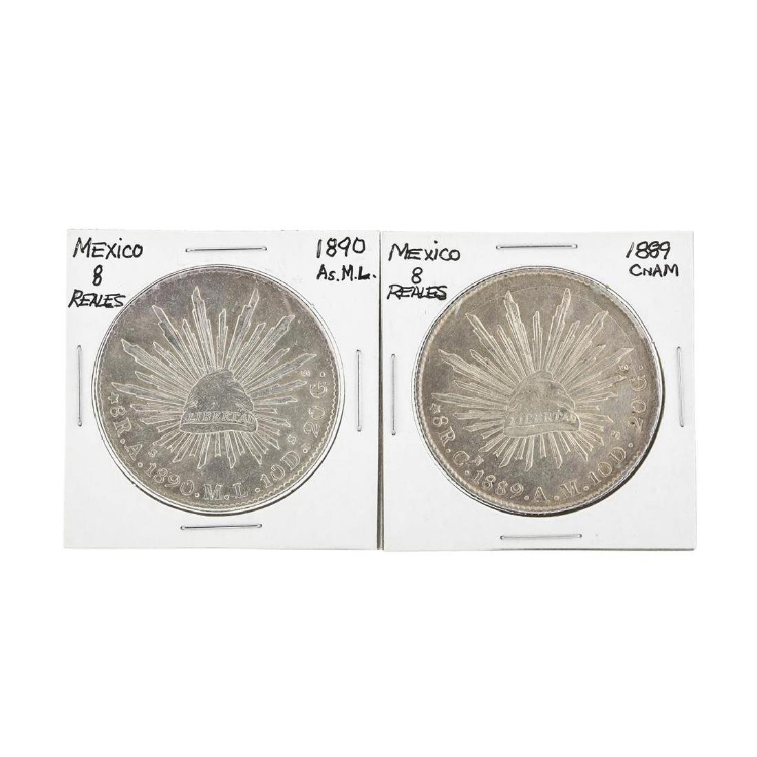Set of (2) Mexico 8 Reales Silver Coins