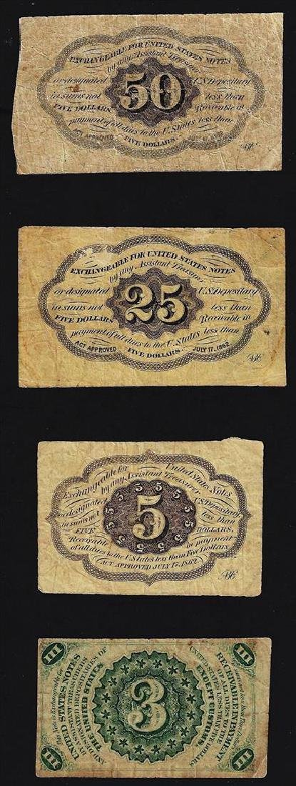 Lot of (4) U.S. Fractional Currency Note - 2
