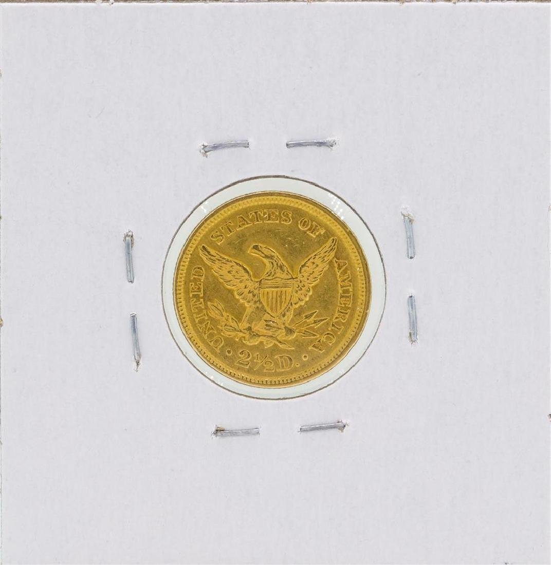 1855 $2 1/2 Liberty Head Quarter Eagle Gold Coin - 2