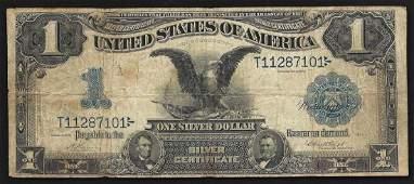 1899 1 Black Eagle Silver Certificate Note ERROR