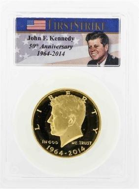2014 John F. Kennedy Gold Half Dollar Coin PCGS