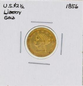 1856 $2 1/2 Liberty Head Quarter Eagle Gold Coin