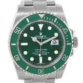 Rolex Submariner Green Dial Ceramic Bezel Mens Watch