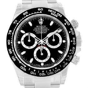 Rolex Cosmograph Daytona Black Dial Chronograph Mens