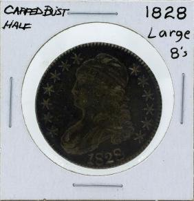 1828 Large 8's Capped Bust Half Dollar Coin
