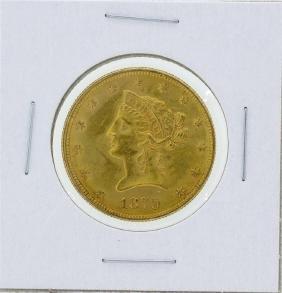 1879 $10 Liberty Head Eagle Gold Coin