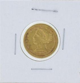 1881 $5 Liberty Head Half Eagle Gold Coin