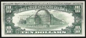 1977 $10 Federal Reserve Note Offset ERROR