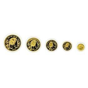1986 China Panda Gold Coin Proof Set