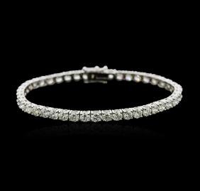 18KT White Gold 10.31ctw Diamond Tennis Bracelet
