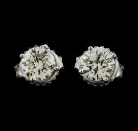 14KT White Gold 1.20ctw Diamond Earrings
