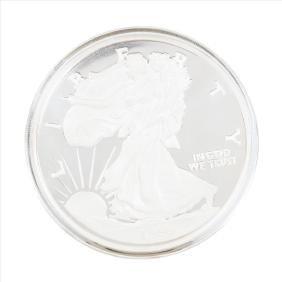 1996 Walking Liberty Half Troy Pound Silver Coin