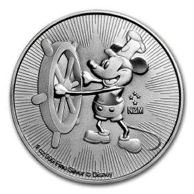 2017 $2 Niue Disney Steamboat Willy Mickey Mouse Silver