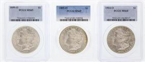 Set of (3) New Orleans Mint $1 Morgan Silver Dollar