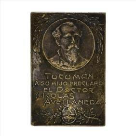1912 Silver Plaque Argentina Medal