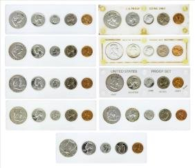 Lot of 1956-1964 (5) Coin Proof Sets