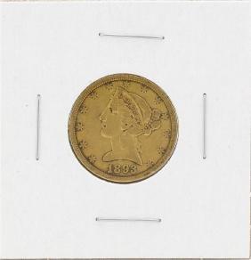 1893-S $5 Liberty Head Half Eagle Gold Coin