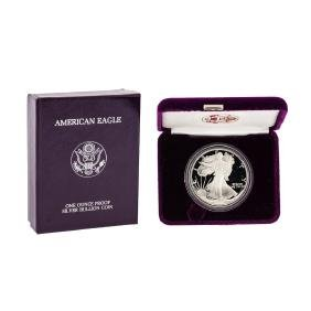 1987 1oz American Silver Eagle Proof Coin with Box