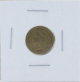 1876 Three Cent Nickel Piece Coin