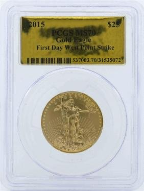 2015 $25 American Eagle Gold Coin PCGS MS70