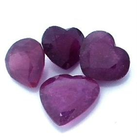 10.78ctw Heart Mixed Ruby Parcel