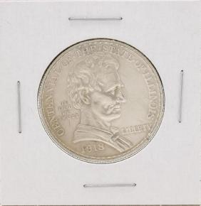 1918 Lincoln Commemorative Half Dollar Coin