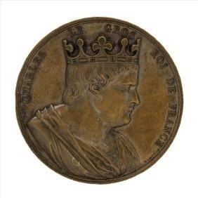 1839 Charles Le Gros King of France Bronze Medal
