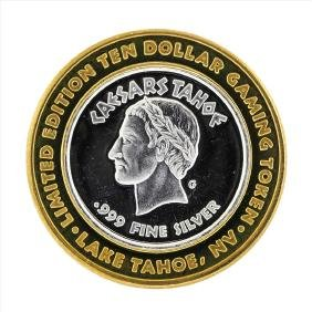 .999 Silver Caesars Tahoe $10 Casino Gaming Token