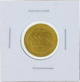1944 Romania 20 Lei WWII Issue Gold Coin