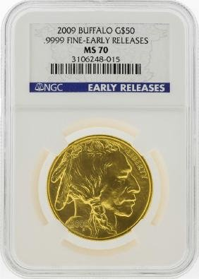 2009 $50 American Gold Buffalo Coin NGC MS70 Early
